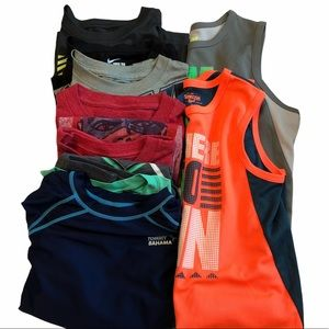 Lot of 8 boys tees size 7 Nike under Armour